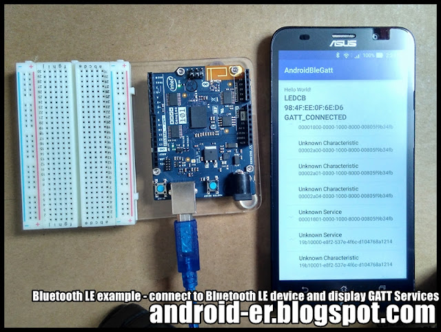 Bluetooth Le Event – Connect To Bluetooth Le Device As Well As Display Gatt Services