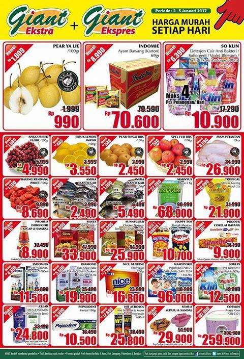 Katalog Harga Promo Giant Awal Tahun 2 – 5 Januari 2017