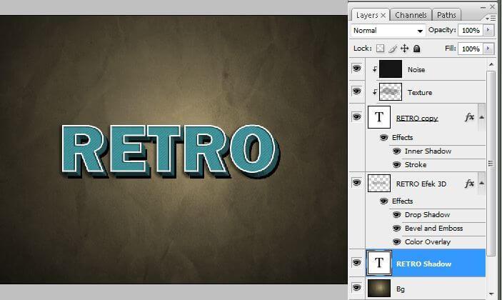 Cara Membuat Edit Tulisan Retro Keren dengan Photoshop