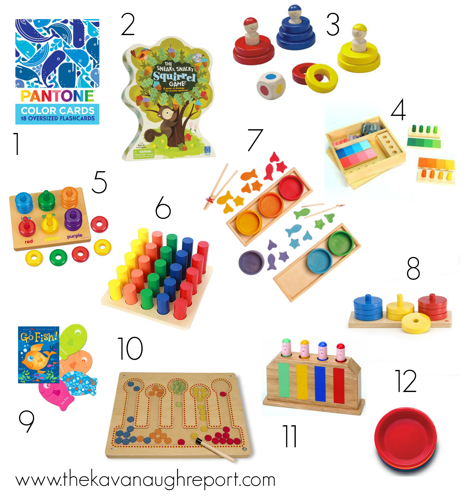 Color Sorting For Montessori Toddlers