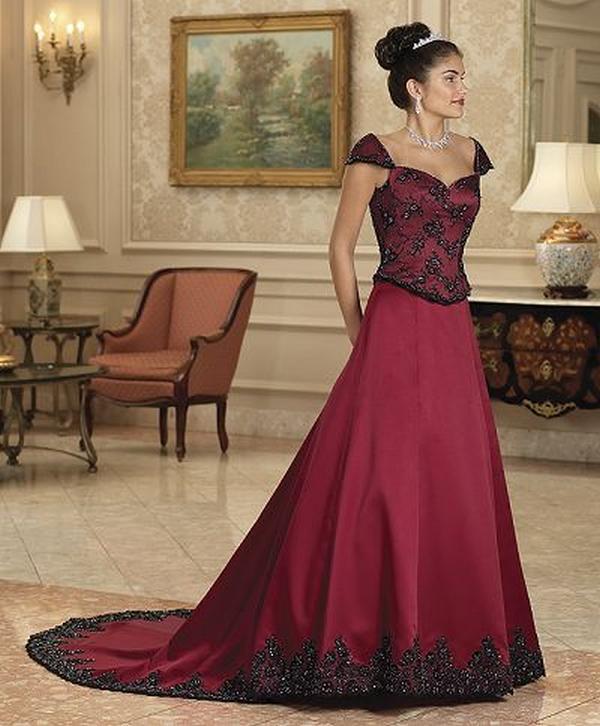 Beautiful Red And White Wedding Dress: Fashion & Beauty: Modern & Beautiful Red Wedding Dresses