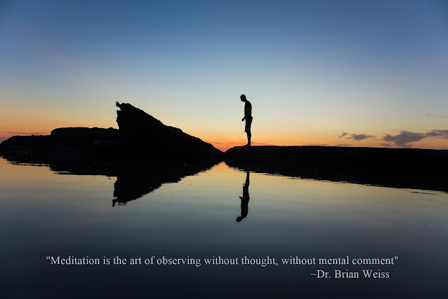 """Meditation is the art of observing without thought, without mental comment""  ~ Dr. Brian Weiss"