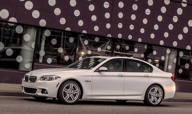 2015 BMW 5-Series sedan white