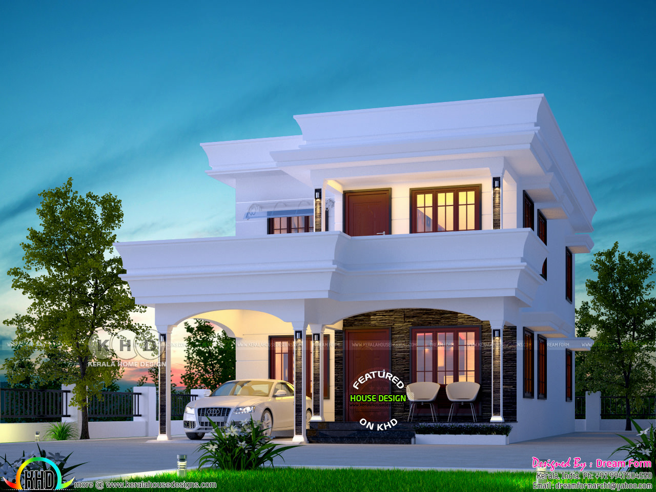 Grand 4 bedroom house in 5 cents of land kerala home for House plans in 5 cents