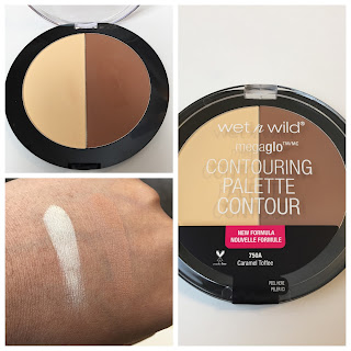 Wet N Wild Megaglo Contouring Palette Caramel Toffee swatched
