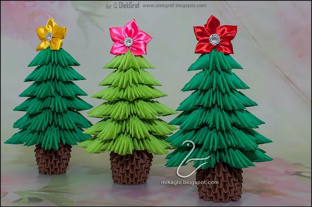 501. Choinki z origami / 3d origami Christmas trees