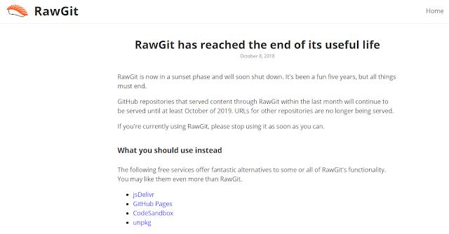 RawGit Akan Segera Ditutup, Ini Layanan Lain Yang Cocok Pengganti RawGit