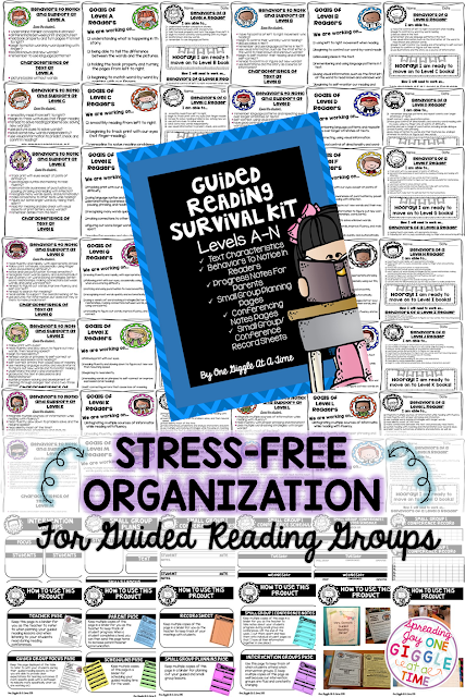 Are you looking for a stress-free way to organize your Guided Reading Binder? Here are some great tips, tools, and strategies for keeping your guided reading group data organized and keeping parents informed, all at the same time!