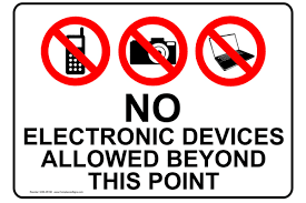 No electronic devices at dinner