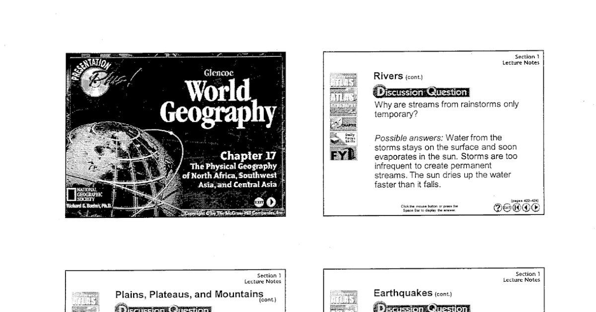 Mr. E's World Geography Page: Chapter 17- The Physical
