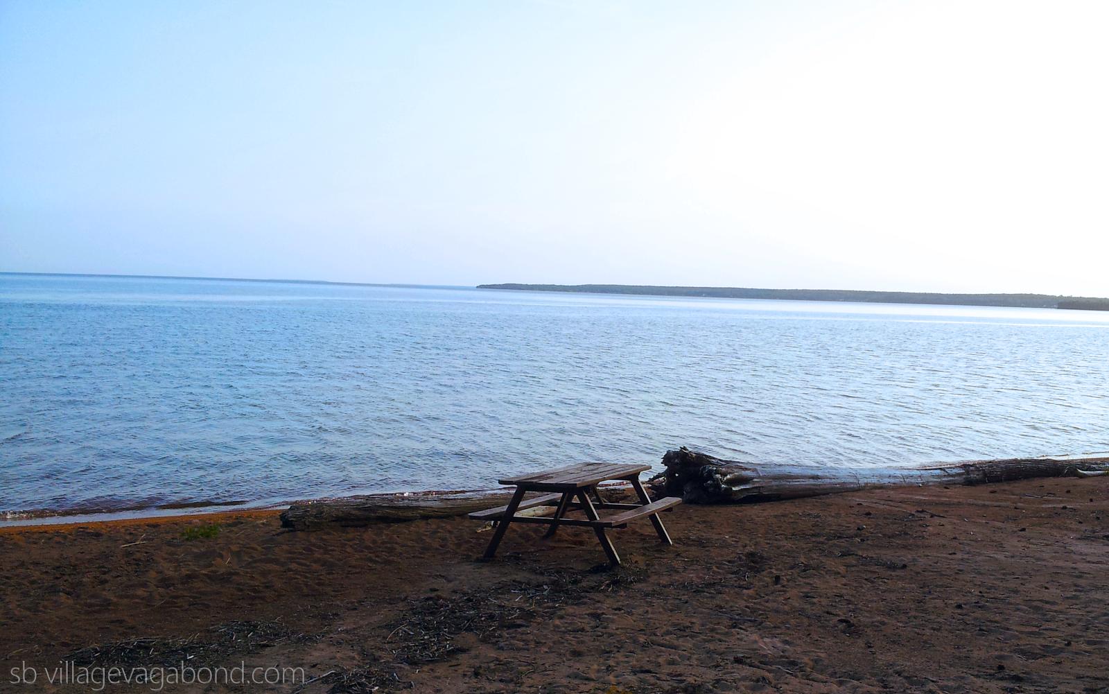 Gorgeous Lake Superior picnic spot at Batchawana Bay.