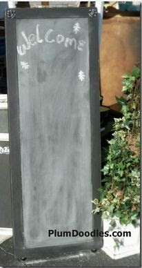 DIY Chalkboard Easel from Coffee Table