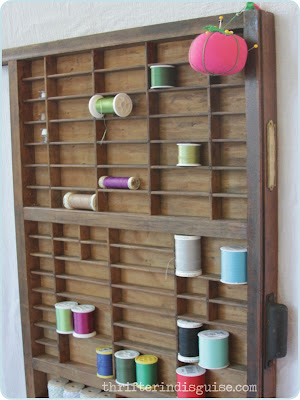 Sewing room thread organization
