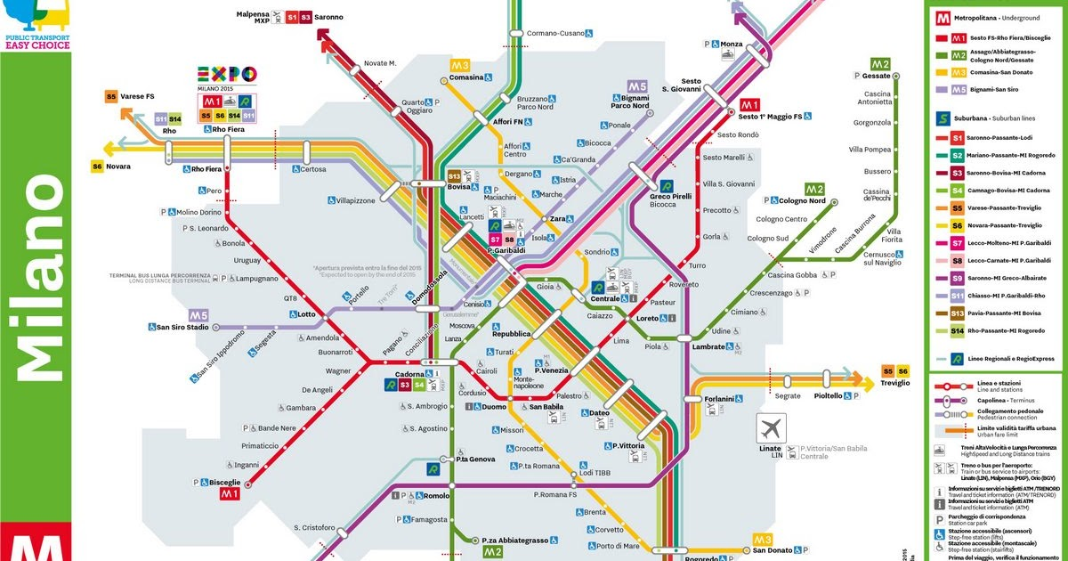 Milan Subway Map.City Transport System Network In Milan And Buying Tickets For The
