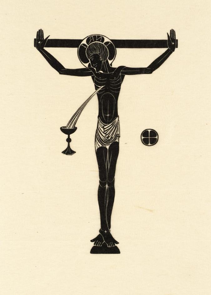 Gill: Crucifix, Chalice & Host