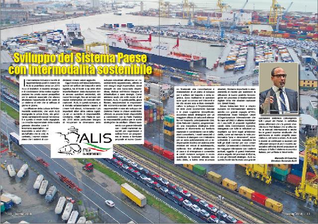APRILE 2018 PAG. 10 - Sviluppo del Sistema Paese con intermodalità sostenibile