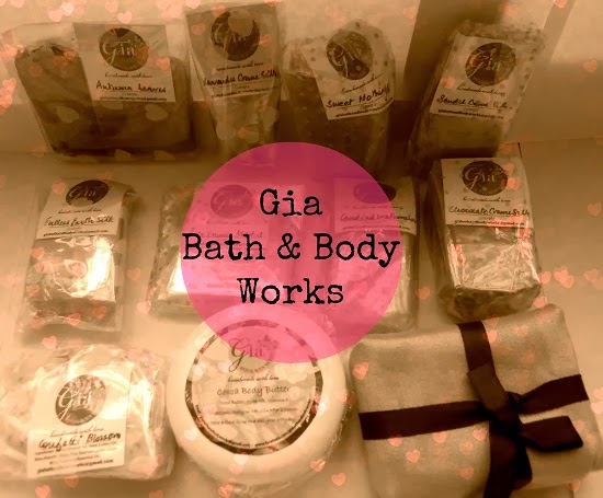 gia bath and body works+handmade soaps+body butter+body scrub+natural products+bath and body works