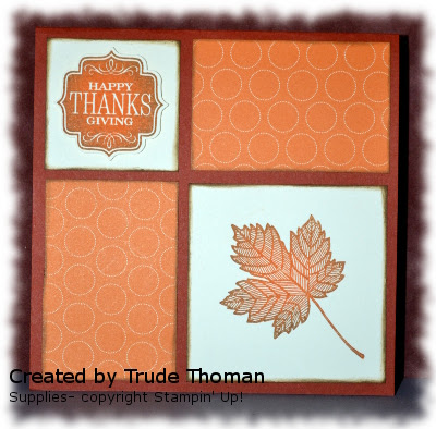 Stamp with Trude, Magnificent Maple, Thanksgiving card, Stampin' Up!