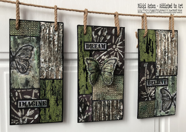 Grunge Paste and Infusions Wall Hanging by Nikki Acton