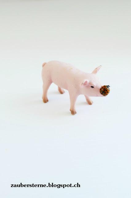Marienkäfer, Schwein Schleich