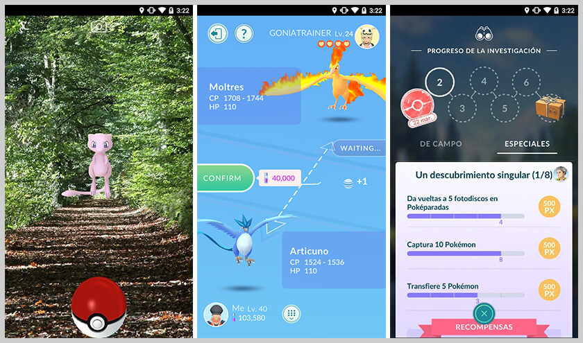 screen pokémon go android