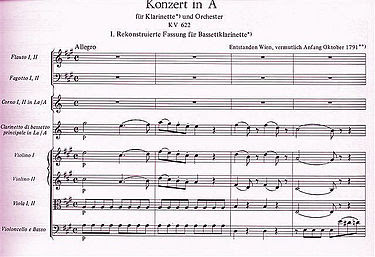 Concerto pour clarinette (adagio) - Wolfgang Amadeus Mozart | ♫ dans - ART a6
