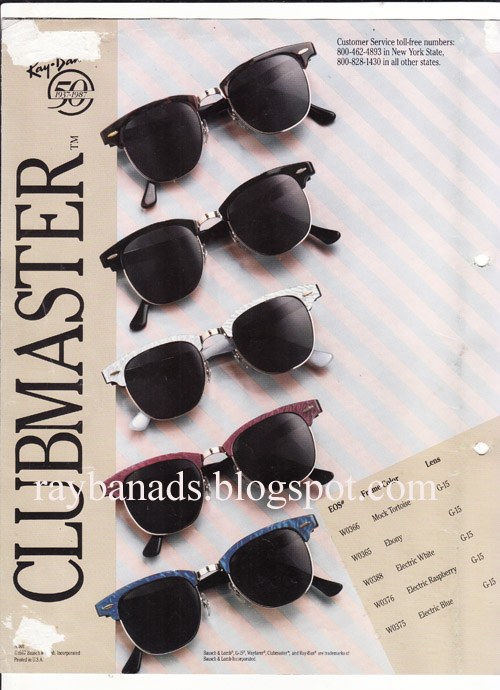 b55aea8683532c Ray ban Ads and Catalogue  Ray ban Clubmaster