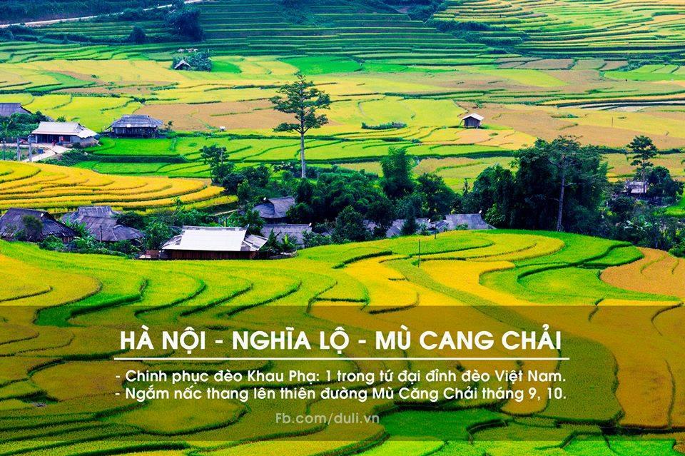 Hà Nội - Nghĩa Lộ - Mù Căng Chải