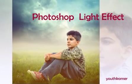 Photoshop Light Effect on Kid
