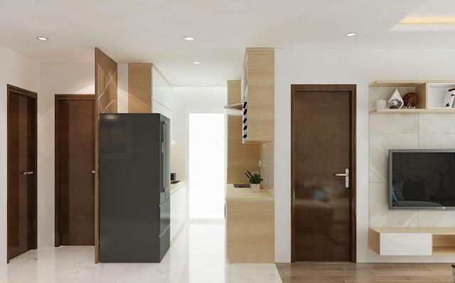 Mẫu thiết kế nội thất chung cư 67m2 sang trọng, tiện nghi - H3