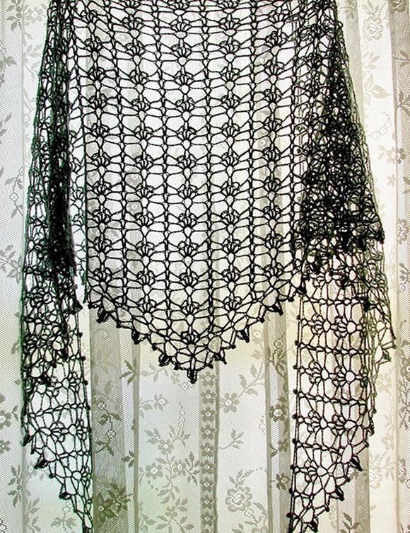 Stylish Easy Crochet Crochet Lace Shawl For Summer Pattern