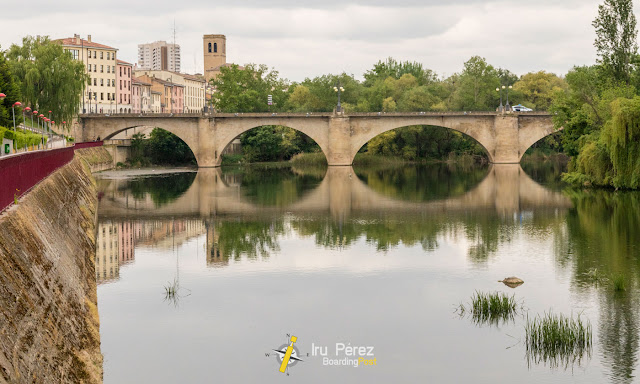Rio Ebro pasando por Logroño