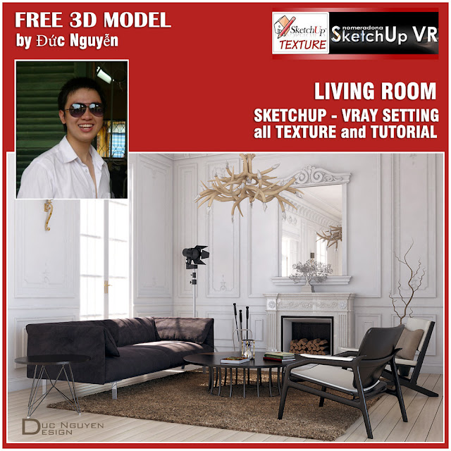 sketchup model living room #6 - cover