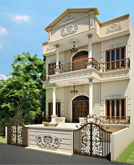 Gambar desain rumah eropa mewah klasik