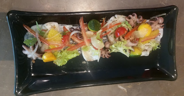 Grilled Octopus and Cuttle Fish Salad