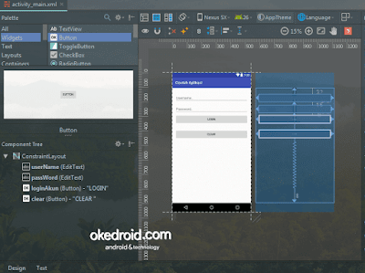 Layout activity_main.xml Contoh Desing Android Studio