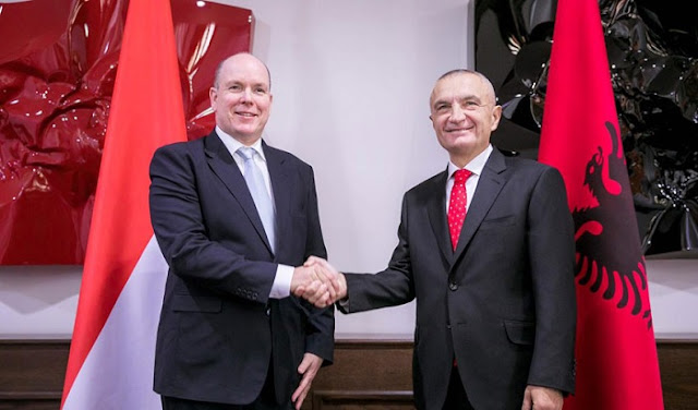 Monaco Prince Albert II in Tirana for first time