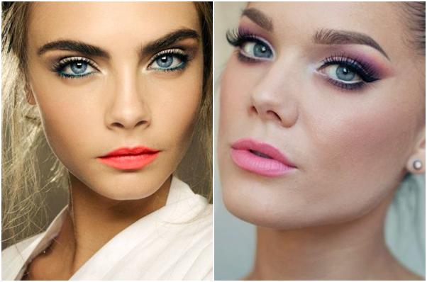 Top 5 Maquiagens para o Natal cara delevigne colorida