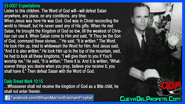 Then defeat Satan with the Word of God - William Branham Quotes