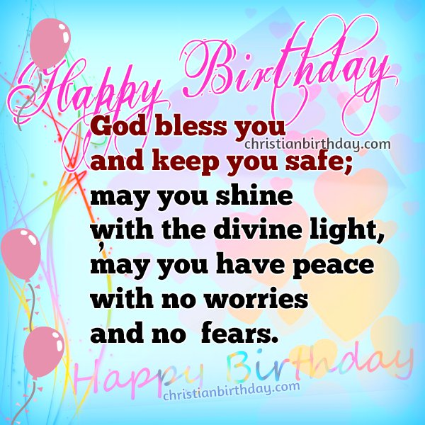 Happy Birthday free christian card for a woman, friend, sister, daughter. free image with quotes on birthday.
