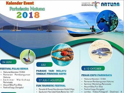 Kalender Event Pariwisata Natuna 2018