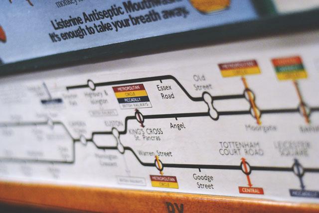 1970s London underground map Northern Line