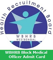 WBHRB Block Medical Officer Admit Card