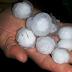 Santiago registra chuva com pedras