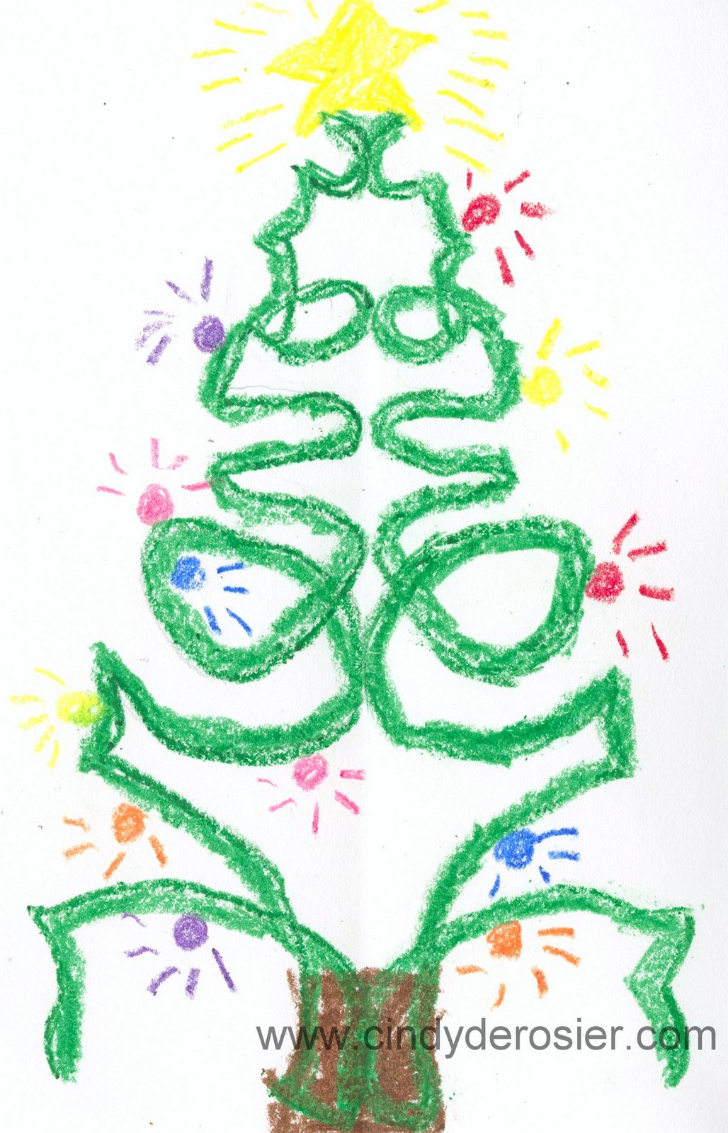 our first project is christmas tree name art