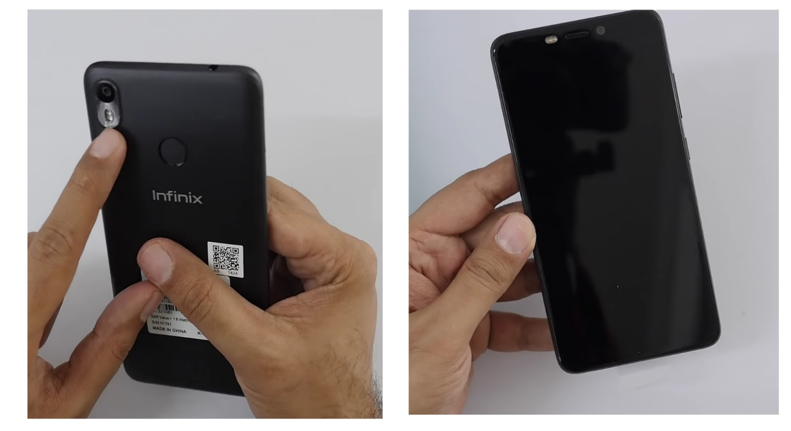 Infinix Hot S3 Front and Back Views