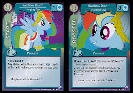 My Little Pony Rainbow Dash, Hanging Out Canterlot Nights CCG Card