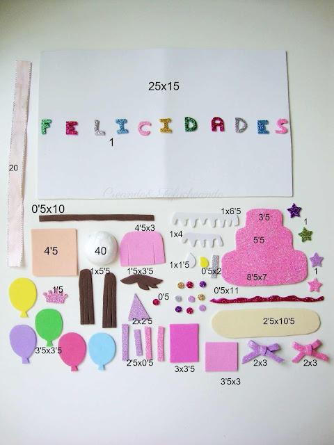 piezas-y-medidas-en-centimetros-para-hacer-tarjeta-de-cumpleaños-en-goma-eva