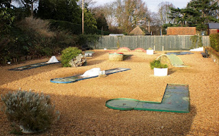 The old Eternit Miniature Golf course at Castle Park in Colchester