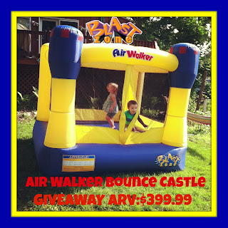 Enter to win the Blast Zone Air Walker Bounce Castle Giveaway Event. {US, 18+, 7/19}
